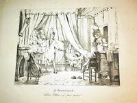 Auguste Xavier LEPRINCE (1799-1826) Litho CARICATURE RESTAURATION OMBRE OPTIQUE