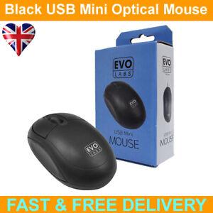 Evo Labs MO-001 USB Matte Black Mini Mouse