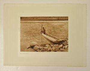 "1910 EDWARD CURTIS ORIGINAL PHOTOGRAVURE ""NEZ PERCE CANOE"""