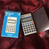 Vintage Sharp Elsi Mate EL-330 Auto Power-Off Battery Operated Calculator c1980s