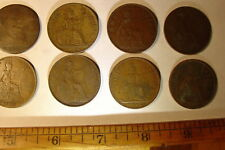 Nice, lot of 8 British Pennies, 1877-1962