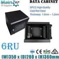 "6RU 6U 280mm DEEP 10"" 10inch 350mm WIDE WALL MOUNT NETWORK SERVER DATA CABINET"