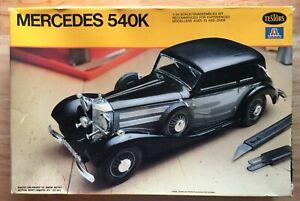 Testors Italeri 831 Mercedes Benz 540K = Complete kit