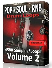 Pop Soul Rnb Drum Loops Volume 2 Samples ProTools Fl Studio Ableton Logic Wav