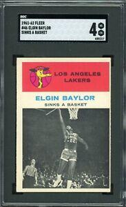 1961 Fleer #46 Elgin Baylor In Action RC | SGC 4