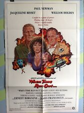 """NEWMAN,PAUL """" When Time Ran Out """" Original Movie Poster 1980"""