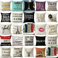 18'' Funny words cushion cover pillow case cover waist throw sofa Home Decor