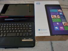 Dell Venue 8 Pro Win 8.1 8inch 32GB Tablet w folio cover, keyboard, pen (bundle)