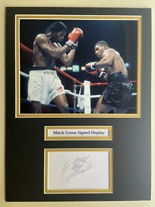 """Boxing Mitch Green Signed 16"""" X 12"""" Double Mounted Display"""