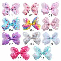 Unicorn Baby Hair Barrette Large Bowknot Headwear JOJO Bows Hair Clip Hairpin