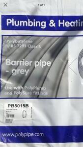 15mm X 50m Polyplumb Pushfit  Pipe Plumbing Pipe, New. Top Item