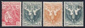 Italy B1-B4,hinged.Michel 120-123.Semi-Postal 1915-1916.Italian Flag,Eagle-Arms.