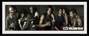 """The Walking Dead Survivors Collector Print Poster 75x30cm/12x30"""" In Black Frame"""