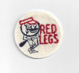 "1960's Cincinnati Reds Redlegs patch 2"" felt patch vintage old logo"
