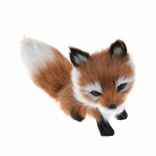 Small Simulation Fox Toy Mini Squatting Fox Model Home Decoration Wedding B-day