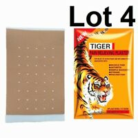 TIGER Lot 4 Patch ANTI-DOULEUR musculaire inflamation 7 x 10cm 4 patch x 4 /U5