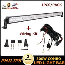 Philips 52inch 300W LED Spot Flood Light Driving SUV Boat 4X4 With Wiring Kit