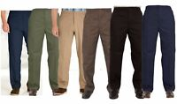 MENS FULL ELASTIC WAIST RUGBY TROUSERS CASUALWEAR GEN ELASTICATED PANTS