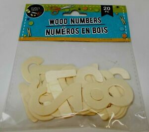 CRAFTER'S SQUARE Wood Numbers 20 Pc NIP