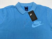 Nike Sportswear Golf Polo Mens Shirt Light Blue Collar 886491-482 NWT