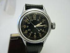 Vintage WW2 Military Pilot 24 Hour Hack System Elgin Wrist Watch. Serviced