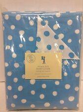 Pottery Barn PB Kids Polka Dot Bed Bedroom Duvet Cover Full Queen FQ Blue