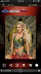 Topps WWE Slam 2017 HIAC Hell In A Cell Golf Award - Charlotte Flair 44cc