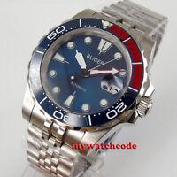 40mm bliger blue dial jubilee bracelet automatic mens watch sapphire glass date
