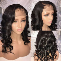 Brazilian Virgin Human Hair Full Lace Wig Natural Loose Body Wave Lace Front Ikm