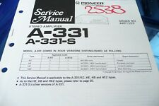 Service Manual für Pioneer A-331 ,ORIGINAL