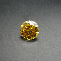 Many Small Size 100Pcs For Golden Yellow Zircon Round Cut AAAAA VVS Loose Gems