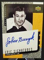 2000-01 Upper Deck Legends Epic Signatures #JB John Bucyk Hard Signed