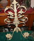 Vintage Style French Victorian Wall Mounted Candle Holder Sconce  2 Flowers