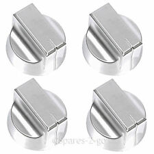 4x Silver Knob Switch for NEW WORLD NWGHU60 NWGHU60SS NWGHU607SS Oven Cooker Hob