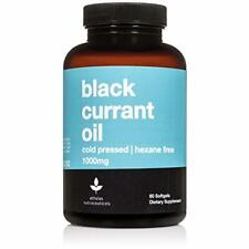 Black Currant Seed Oil 1000mg - Cold Pressed - Hexane Free - High in GLA - Suppo
