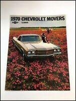 1970 Chevrolet El Camino Pickup Truck Original Car Sales Brochure Catalog - SS