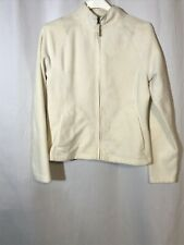 Merona Womens Long Sleeve Zip Up Sweatshirt Fleece Ivory Off White Medium