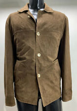Milestone Suede Brown Top Coat Jacket Men's 40 R