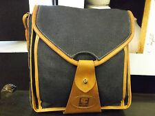 TED LAPIDUS bag_sac cuir et tissu avec bandoulière VINTAGE neuf - FIN SÉRIE