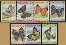 LAOS N°699/705** Papillons TB, 1986 butterflies  Sc#692-698 MNH