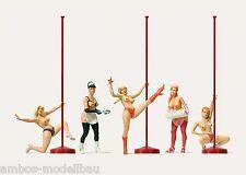 "Merten h0 2556, Nightlife, 5 figure, ""da donna alla sbarra"", dipinta a mano, nuovo"