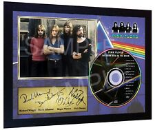 The Dark Side Of The Moon Pink Floyd SIGNED FRAMED PHOTO PRINT AND CD Disc