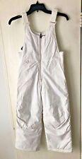White Sierra Youth Toboggan Insulated Bib, Milky White, Small