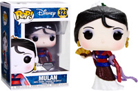 Exclusive Mulan Diamond Glitter Funko Pop Vinyl New in Box In Hand