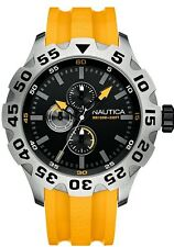 Nautica Men's BFD100 Muti Black Dial Yellow Silicone Strap Watch A15566G