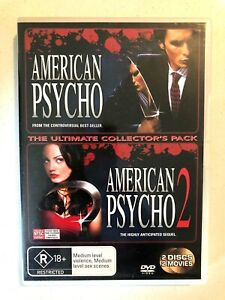 American Psycho & American Psycho 2 dvd 2 disc collector's pack + FREE POST
