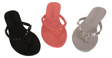 Womens Ladies Studded Flip Flops Sandal Shoes Stud Sandals Size Summer Shoes