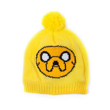 OFFICIAL ADVENTURE TIME'S JAKE YELLOW POM BEANIE HAT (BRAND NEW)