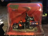 Lemax Spooky Town Halloween GRIM RIDER on Motorcycle -