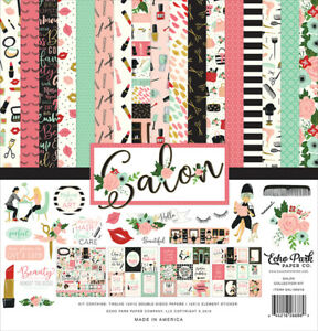 Echo Park Collection Kit SALON 12 Double-Sided Papers & 1 Element Sticker Page